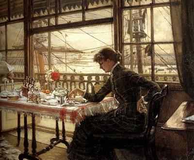 "Дж.Тиссо ""Комната с видом на гавань."""