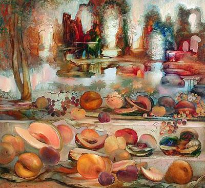 Tags.  Живопись.  Еда в искусстве. вкусный вернисаж. дыня.  No Comments. персик. груша.  Ноябрь 1st, 2009.