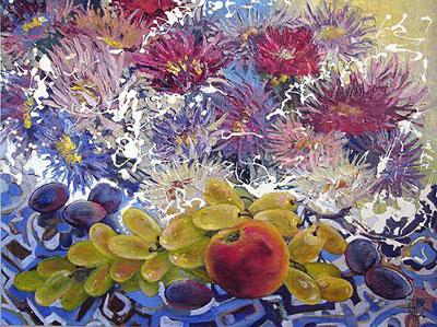 """О.Раджапова """"Осень и цветы."""""""