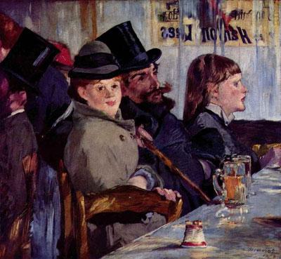 """Э.Мане """"В кафе. Кабаре в Райсхоффене."""""""