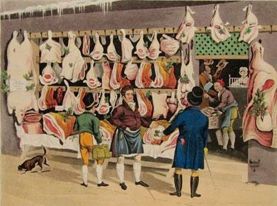 "James Pollard ""London Markets. Мeat."""