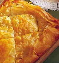 Пирог с кабачками и брынзой.