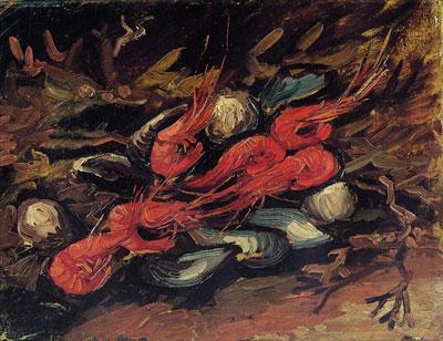 "В.В. Ван Гог ""Натюрморт с мидиями и креветками."""