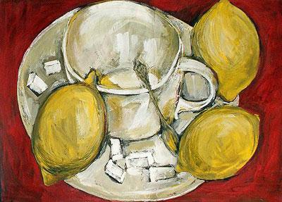 """С.Нестерова """"Чай с лимонами."""""""
