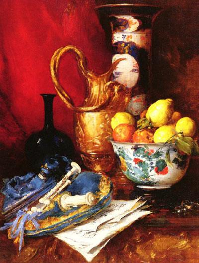 "А.Воллан ""Натюрморт с фруктами и ваза."""