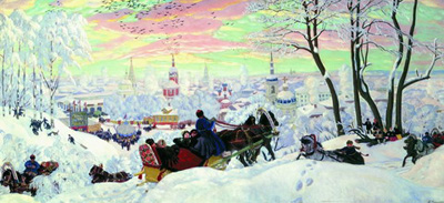 "Б.Кустодиев ""Масленица, 1916 год."""