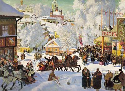 "Б.Кустодиев ""Масленица. 1919."""