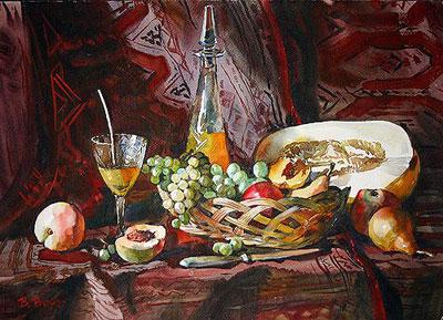 """В.Величко """"Натюрморт с фруктами."""""""
