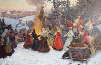 """С.Кожин """"Масленица. Проводы зимы. XVIIв."""""""