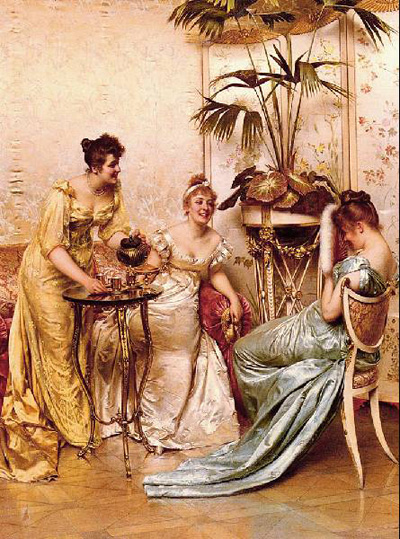 "Charles Joseph Frederic Soulacroix ""The tea party."""