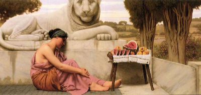 "John William Godward ""The fruit vendor."""