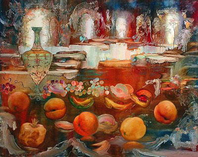 "М.Антонов ""Натюрморт с вазой."""