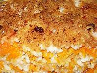 Рисовая запеканка с яблоками и тыквой.