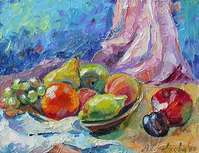 "А.Сливкова ""Натюрморт с фруктами."""