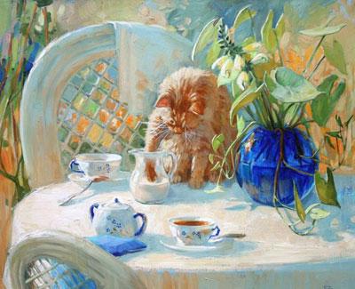 """М.Павлова """"Чай с молоком."""""""