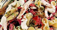 Салат из курицы по-итальянски.