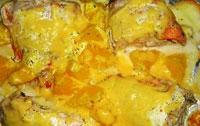 Рыба с апельсинами.