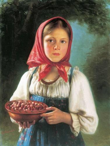 """В.Т.Тимофеев """"Девочка с ягодами."""""""