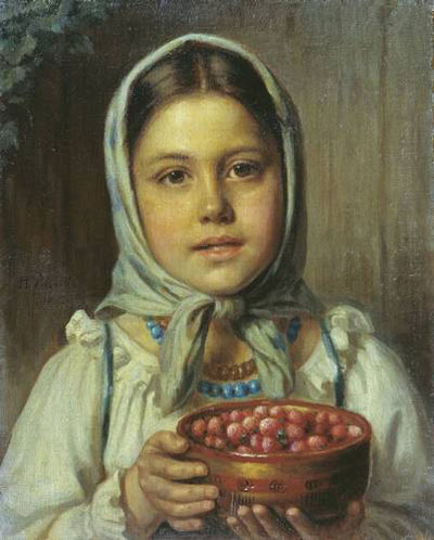 """Н.Е.Рачков """"Девочка с ягодами."""""""