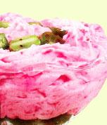 Землянично-йогуртовый мусс.