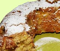 Постный апельсиновый кекс с орехами.