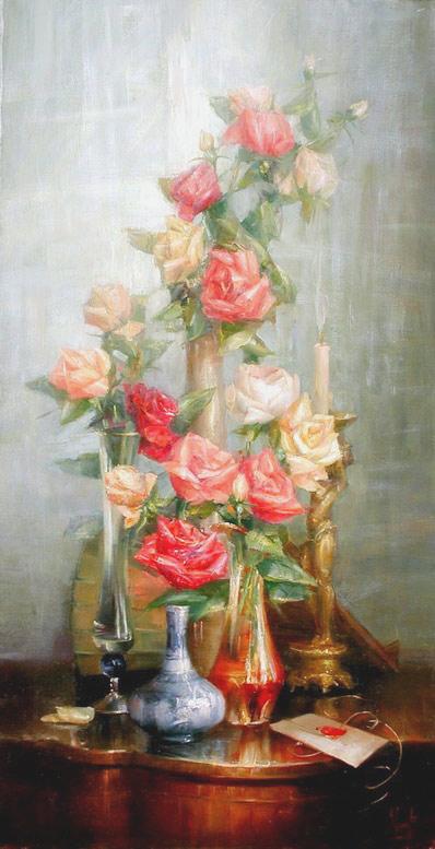 """В.Екимов """"Композиция из роз."""""""
