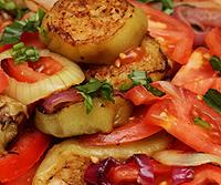 Салат из баклажанов. Армянская кухня.