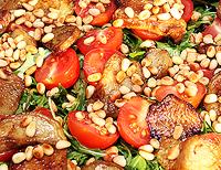 Овощной салат с рукколой.