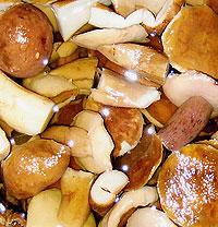 Маринованные белые грибы.