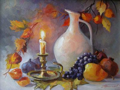 """В.Герасимов """"Осенний натюрморт."""""""