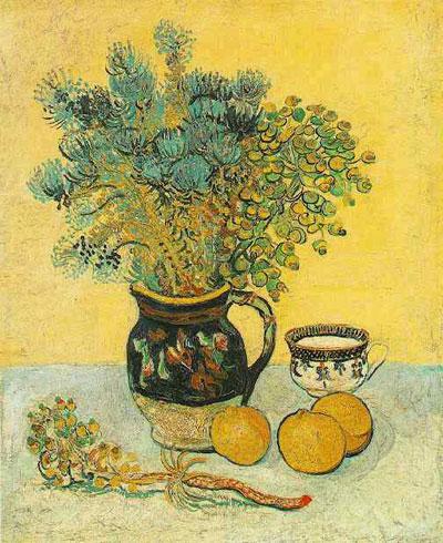 """В. ван Гог """"Майоликовый кувшин с дикими цветами."""""""