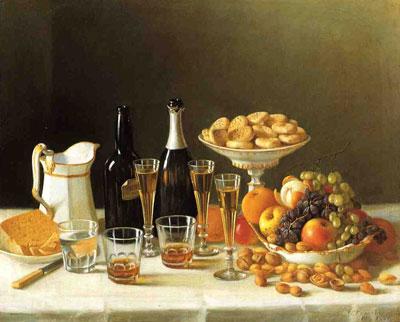 """Дж.Френсис """"Вино, сыр и фрукты."""""""