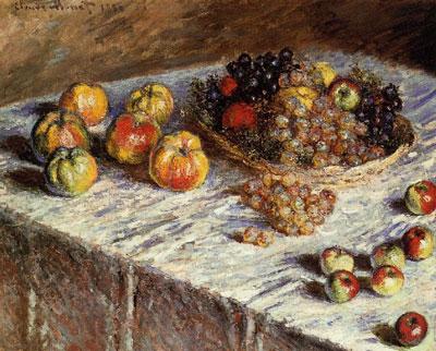 """К.Моне """"Натюрморт с яблоками и виноградом."""""""