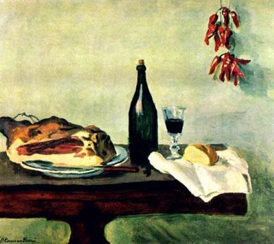 """П.Кончаловский """"Хлеб, ветчина и вино."""""""