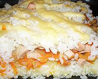 Рисовая запеканка.